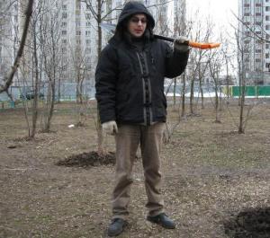 Олег Романов на субботнике